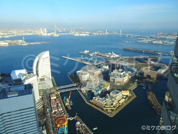 横浜ロイヤルパークホテルからの眺望