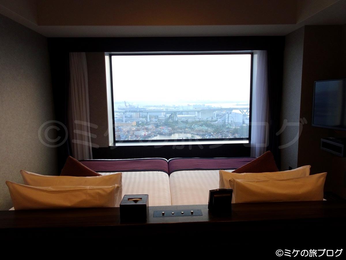 「ザ パーク フロント ホテル アット ユニバーサル・スタジオ・ジャパン」のラグジュアリーフロアの部屋
